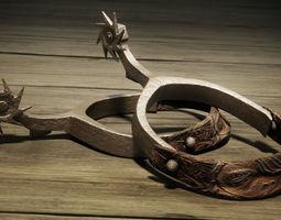 Wild West Cowboy - Spurs 3D