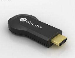 google chromecast 3d model max obj 3ds fbx c4d lwo lw lws