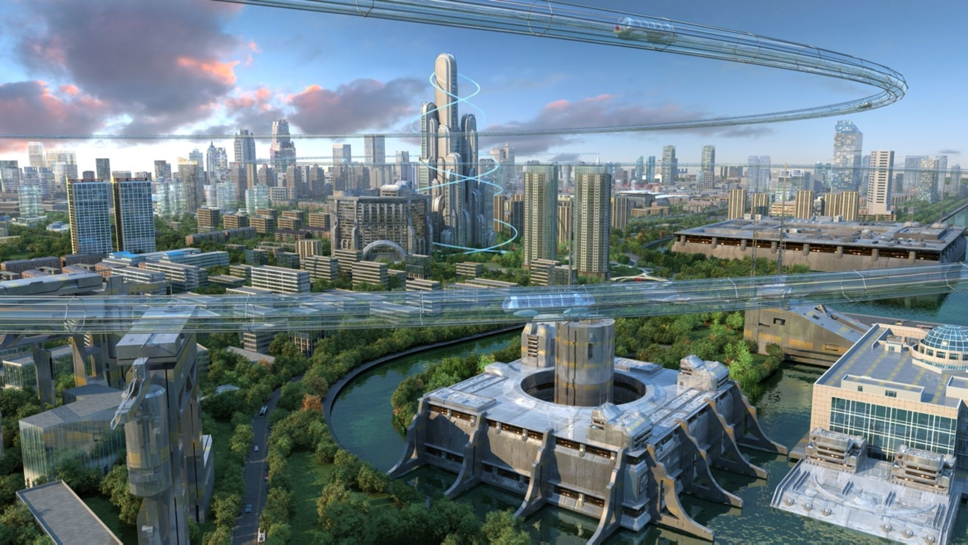 3d Animated Future City 01 Cgtrader