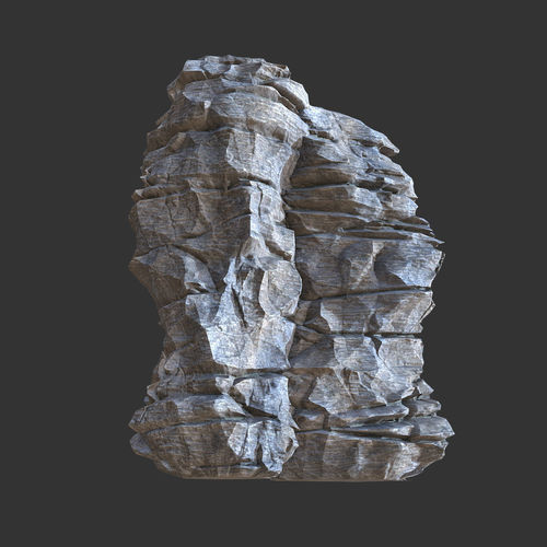 low poly realistic rocky sharp cliff modular s5 3d model low-poly obj mtl 1