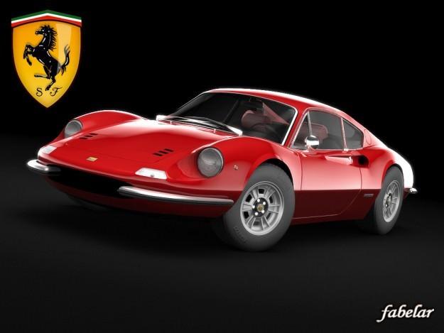 Antique Auto Trader >> Ferrari 246 Dino 3D model rigged MAX STL MAT