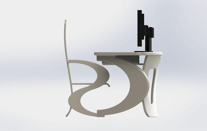 Desk nec 3d model sldprt sldasm slddrw ige igs iges for Nec table 373 6