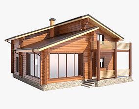 Wooden house 01 3D