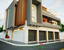 exterior 3D MODEL residential building