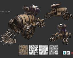 3D asset Steampunk Char