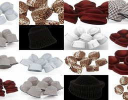 3D 4 Stylish Hat Collection