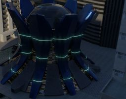 3D model The Temple