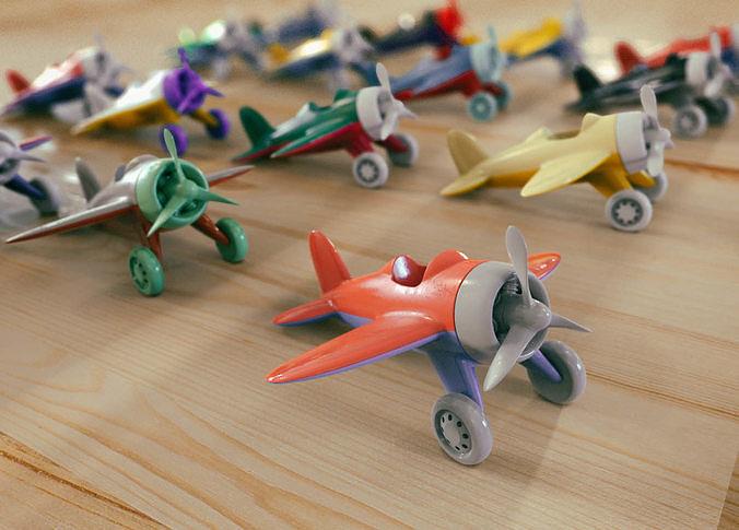 toy air plane 3d model obj mtl fbx stl dae ige igs iges stp 1