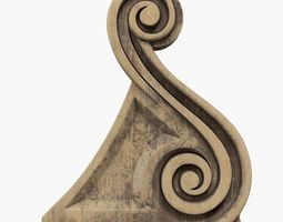 Ornate Corbel Bracket 3D print model