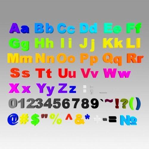 alphabet 3d model obj mtl stl dwg ige igs iges stp 1