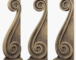 3D Ornate Corbel Bracket