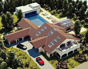 3D model Modern Luxury Villa In Spanish Architectural