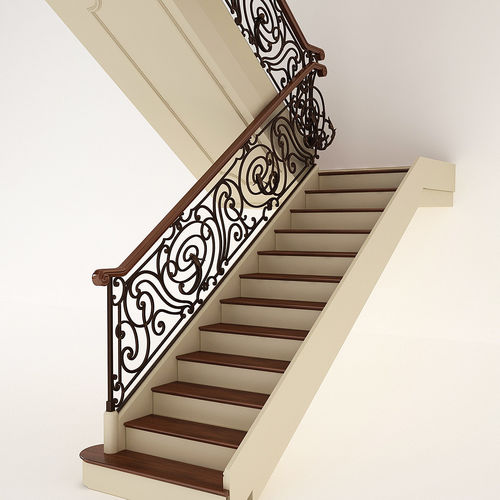 classic stair 3d model max obj mtl 1