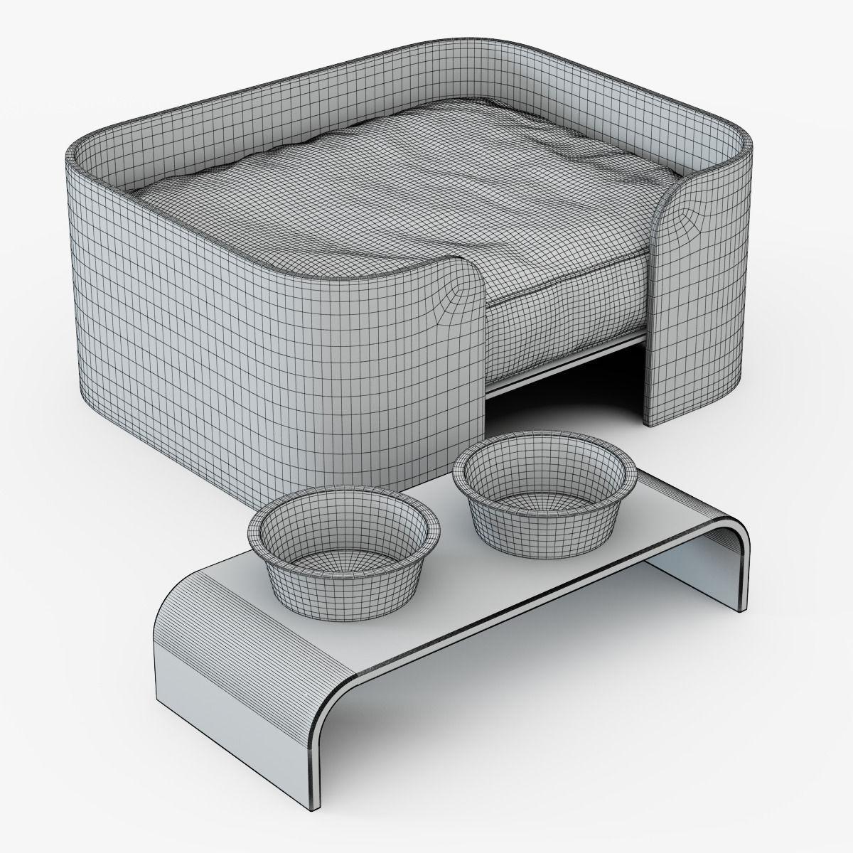 3ds max 2010 v ray 2 40 03 file formats fbx obj dog beds -  Dog Beds 3d Model Max Obj Fbx Mtl 2