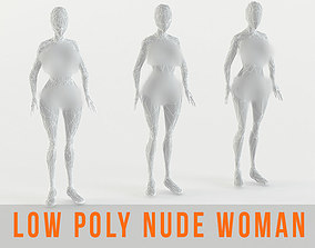 3D model NUDE TEEN - WOMEN - YOUNG - NAKED FEMALE LOW POLY