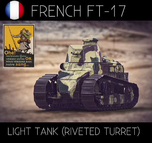 renault ft17 french light tank 3d model fbx ma mb 1