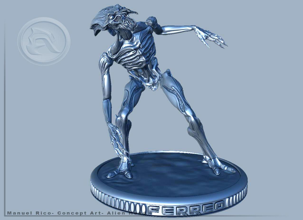 Alien Ferreo 3d Model 3d Printable Stl