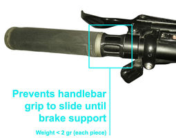 Bicycle handlebar grip lock 3D Model