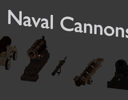 Naval Cannons 3D model