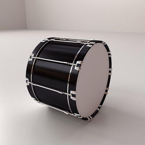bass drum 3d model 3ds fbx blend dae 1