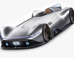 3D model Mercedes-Benz Vision EQ Silver Arrow Concept