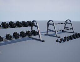 Dumbbell Rack 3D asset