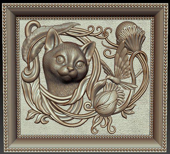 cat frame 3d model  1