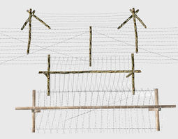 3D model Military Barbwire Pack
