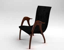 3D model Sculptural Armchair by Malatesta and Mason