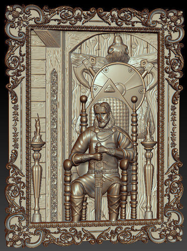 prince on the throne 3d model stl 1
