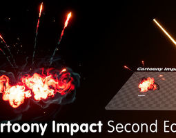 Cartoony Impact Second Edition - Unreal Engine 4 3D model