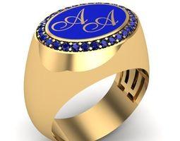 MAN RING 3D print model rings manring