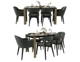 connubia table with chairs 3D