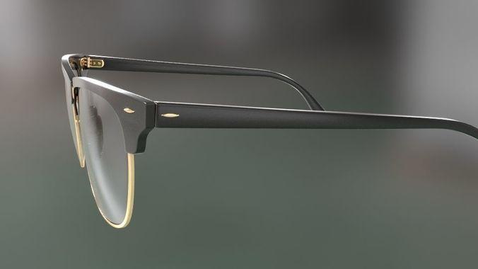 62d31b7e14 rayban clubmaster glasses 3d model 3d model max obj mtl fbx 41