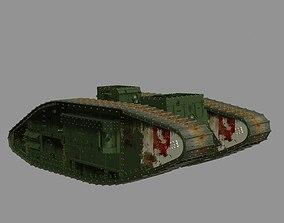3D asset British MKV tank