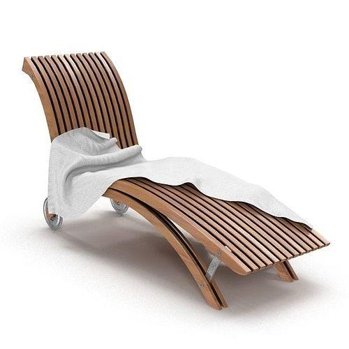 beach chair 3d model max obj mtl 1