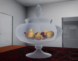 North style vase with pears October 3D model