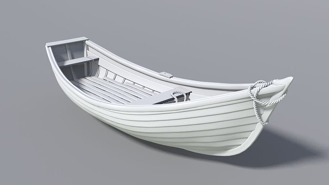 wooden boat 3d model max obj mtl 1