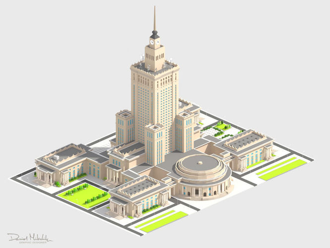 Monumental Skyscrapper Low Poly