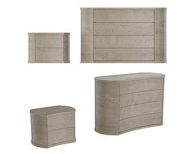 Colombini Casa Polaris Bedroom Furniture wood 3D