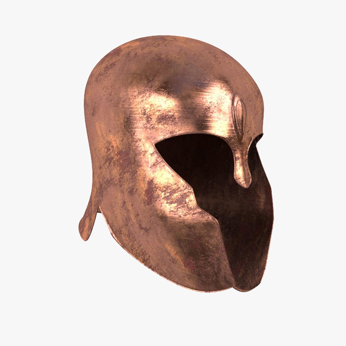 Achilles Helmet Model Realistic- Low Poly