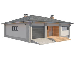 Cottage House with Unwrapped 3D model