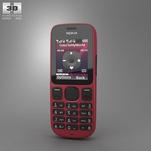 nokia 101 3d model low-poly max obj 3ds fbx c4d lwo lw lws 1