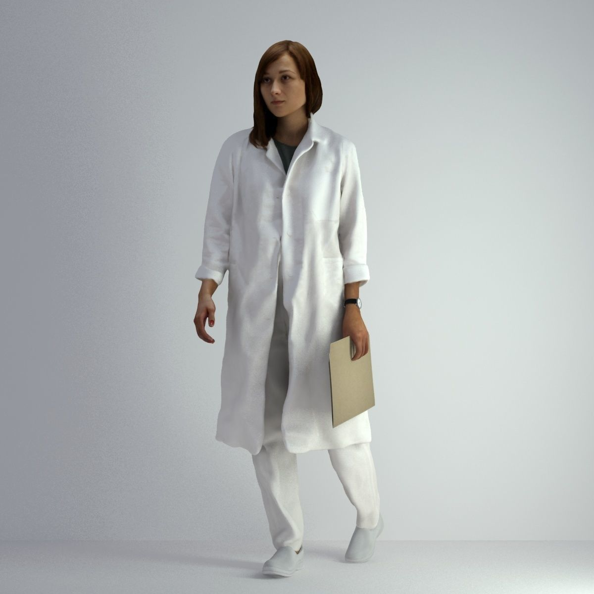 3D Scan Woman Doctor 007