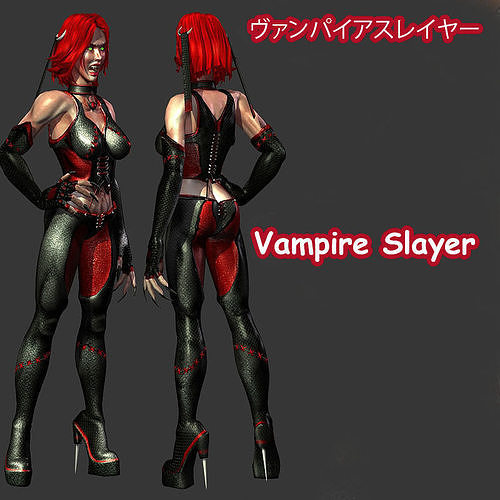 vampire slayer comes with rig 3d model lwo lw lws 1