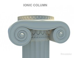 Greek Column Ionic 3D