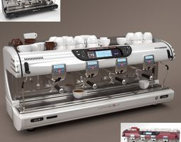La spaziale Coffee Machine 4 group Blender Cycles 3D