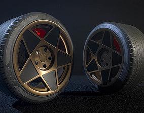 Advan wheel - pbr low poly model 3D asset