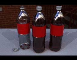 Plastic bottled soda 3D asset