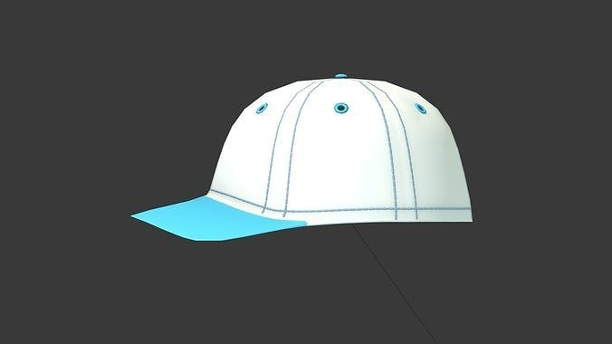 baseball cap 3d model max obj mtl 3ds fbx ma mb blend 1 00af052eaf55